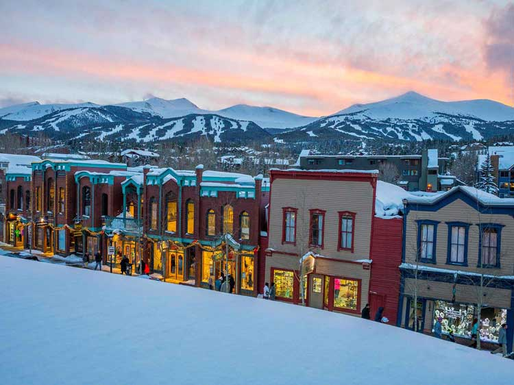 Town of Breckenridge, Colorado in Summit County